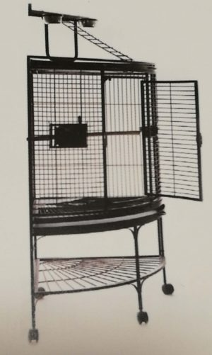 corner cage with play pen top
