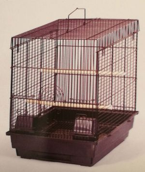 flat roof bird cage