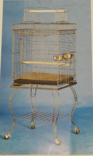 square open top cage with stand
