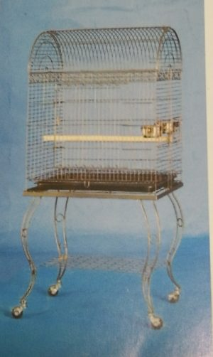 rectangular round roof bird cage with stand