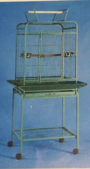 medium open top cage with stand and skirt surround