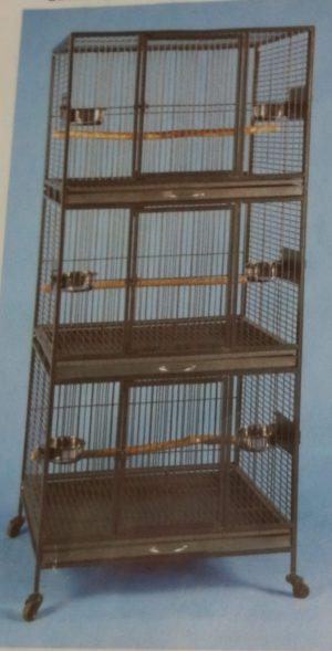 tripple bird cage